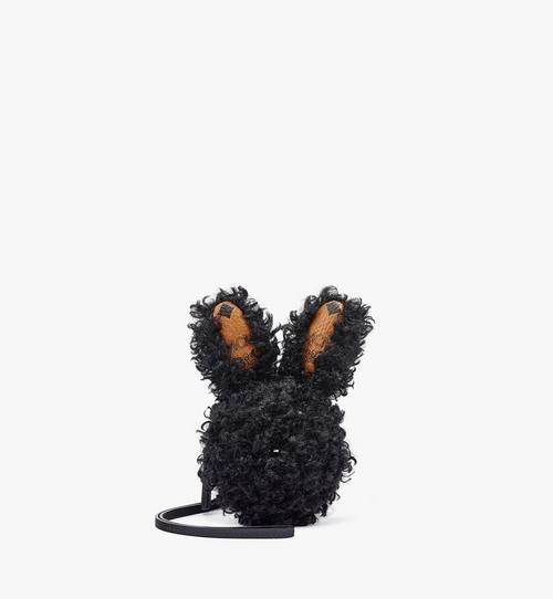 Pochette lapin en fausse fourrure et Visetos