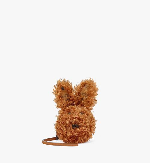 Rabbit Pouch Charm in Faux Fur Visetos