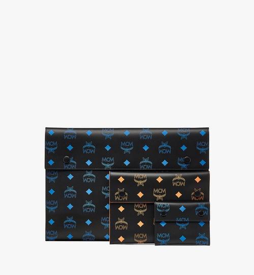 潑彩品牌標誌皮革手拿包三件組