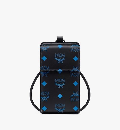 Smartphonehülle aus Leder in Color Splash Visetos und Schlüsselband