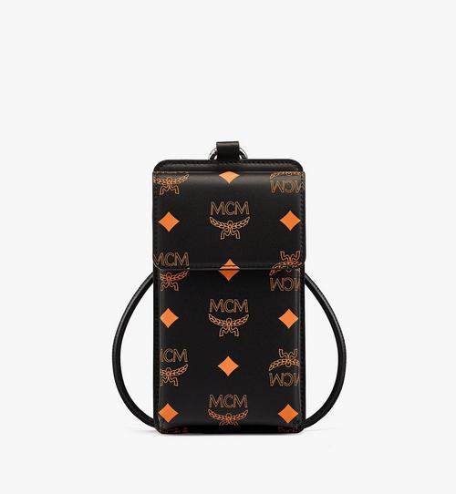 Étui pour téléphone à lanière en cuir Color Splash Logo