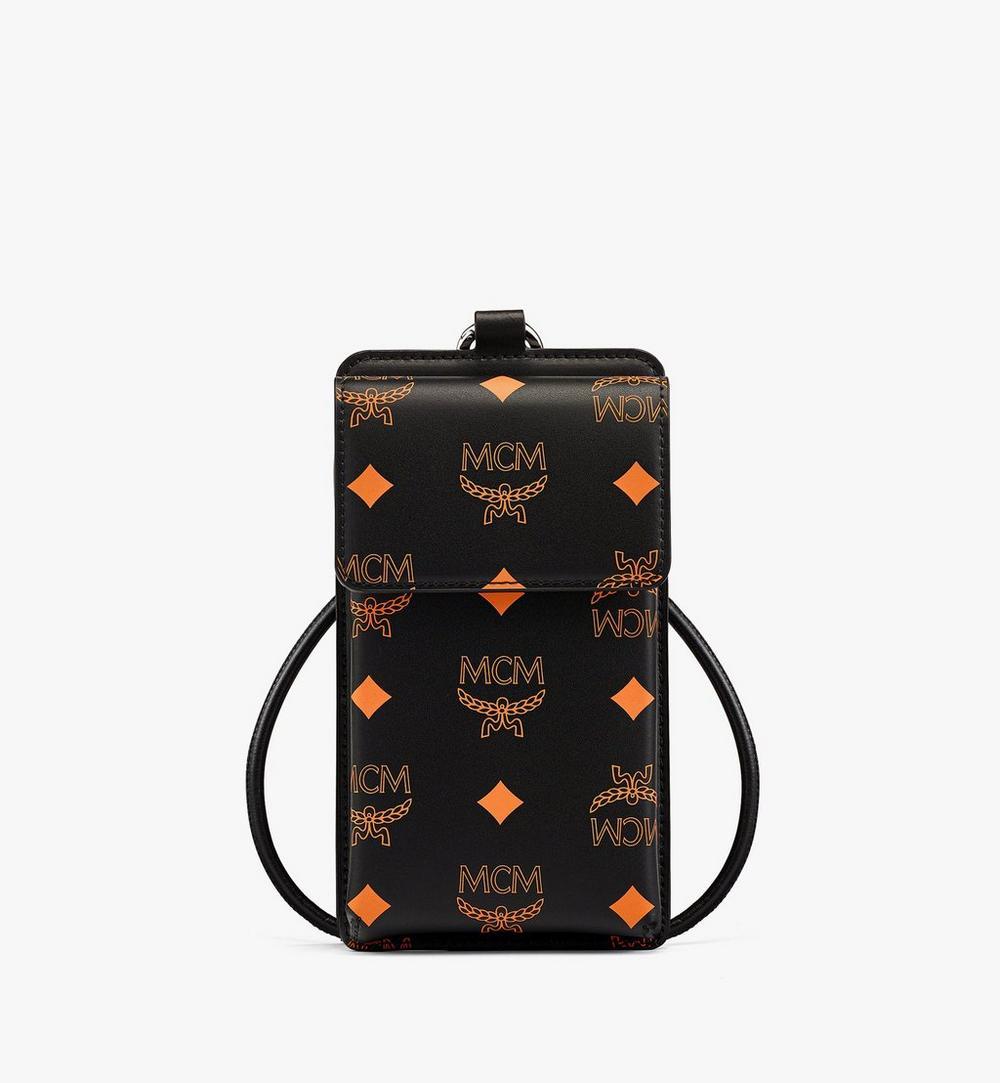 潑彩品牌標誌皮革掛繩手機殼 1