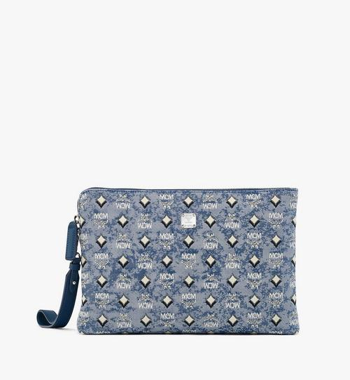 Standing Wristlet Pouch in Vintage Jacquard Monogram