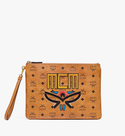 กระเป๋าเพาช์ติดซิปแบบคล้องข้อมือลาย Geo Laurel Visetos