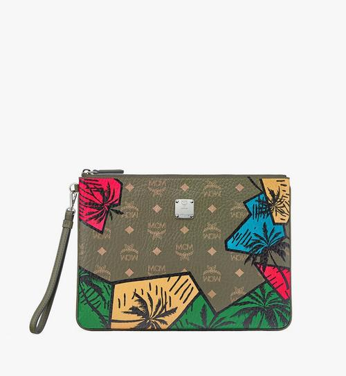 Hawaii Upcycling Project Wristlet Zip Pouch in Visetos