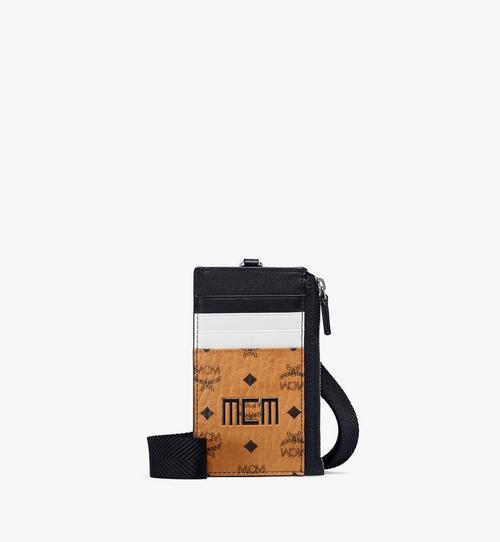 กระเป๋าใส่บัตรมีสายคล้องคอลาย Visetos Mix