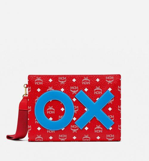 Standing Wristlet Zip Pouch in New Year Visetos