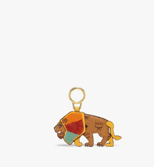 MCM Zoo 2D Lion Charm in Visetos