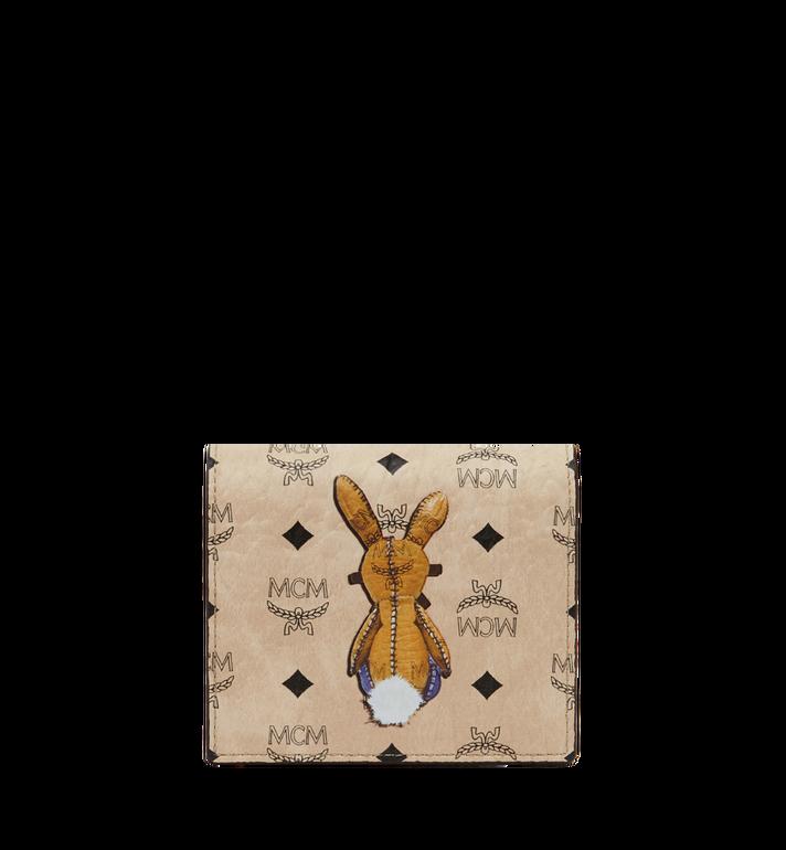 MCM Rabbit ID Wallet in Visetos Beige MYA7AXL15IG001 Alternate View 3