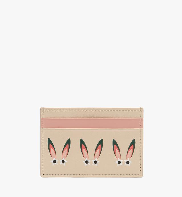 Star Eyed Bunny Card Case in Leather