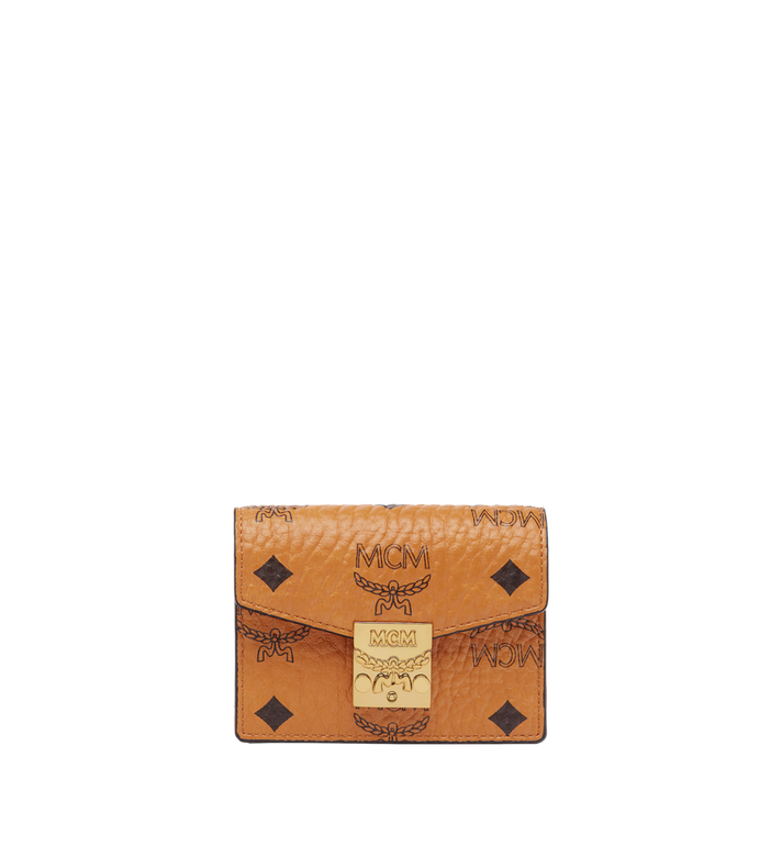 MCM Patricia Accordion Card Case in Visetos Alternate View
