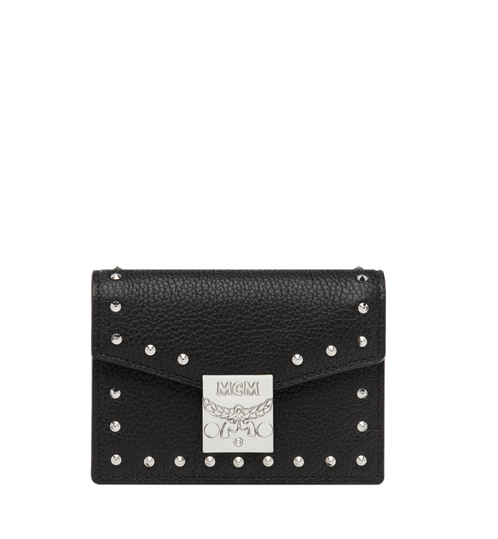 MCM Patricia Card Holder in Studded Outline Leather Alternate View