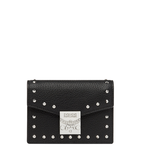 Patricia Card Holder in Studded Outline Leather