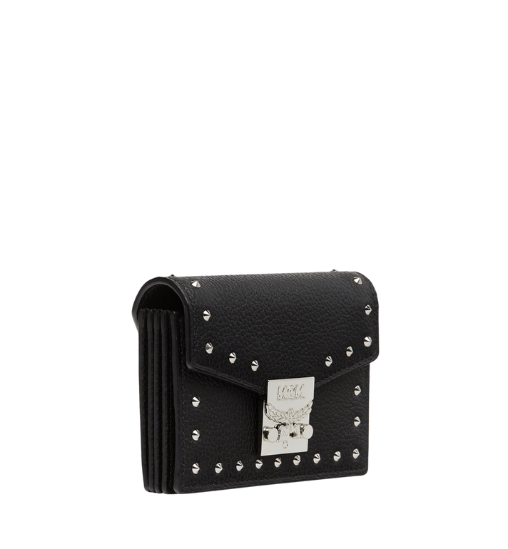 MCM Patricia Card Holder in Studded Outline Leather Black MYA8APA65BK001 Alternate View 2
