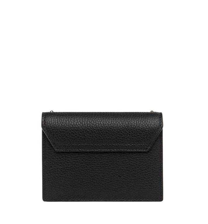 MCM Patricia Card Holder in Studded Outline Leather Black MYA8APA65BK001 Alternate View 3