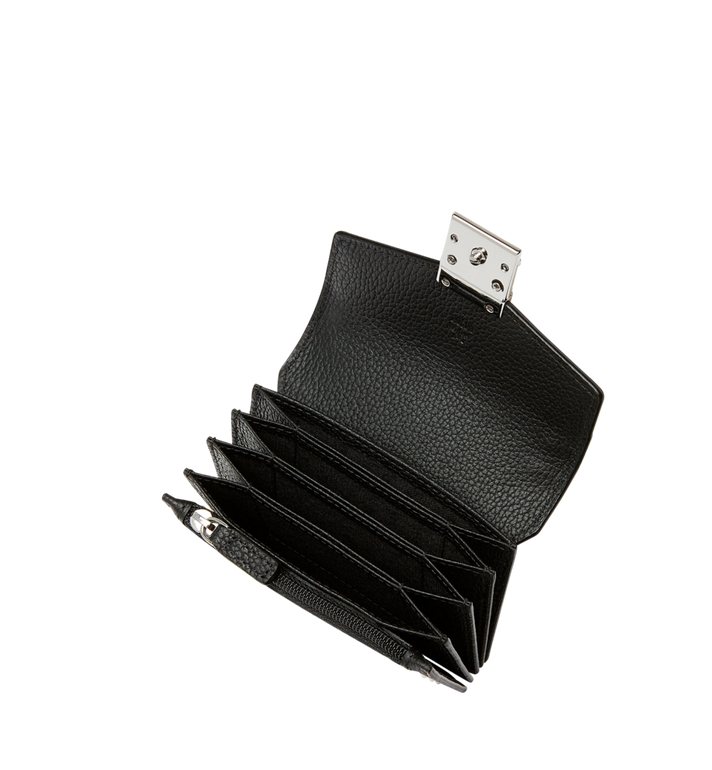 MCM Patricia Card Holder in Studded Outline Leather Black MYA8APA65BK001 Alternate View 4