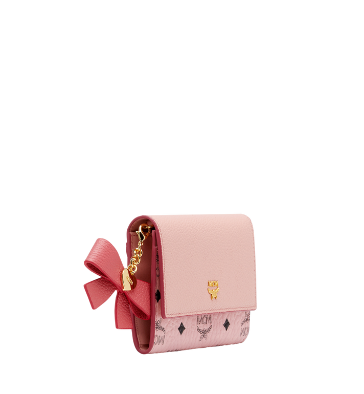 MCM Mina Bow Charm Card Case Pink MYA8SLL93PV001 Alternate View 2