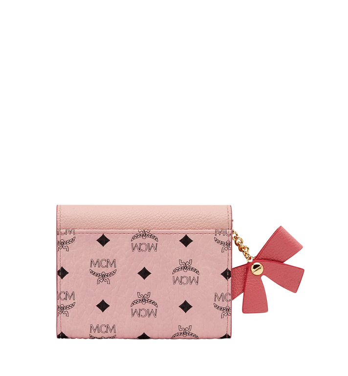 MCM Mina Bow Charm Card Case Pink MYA8SLL93PV001 Alternate View 3