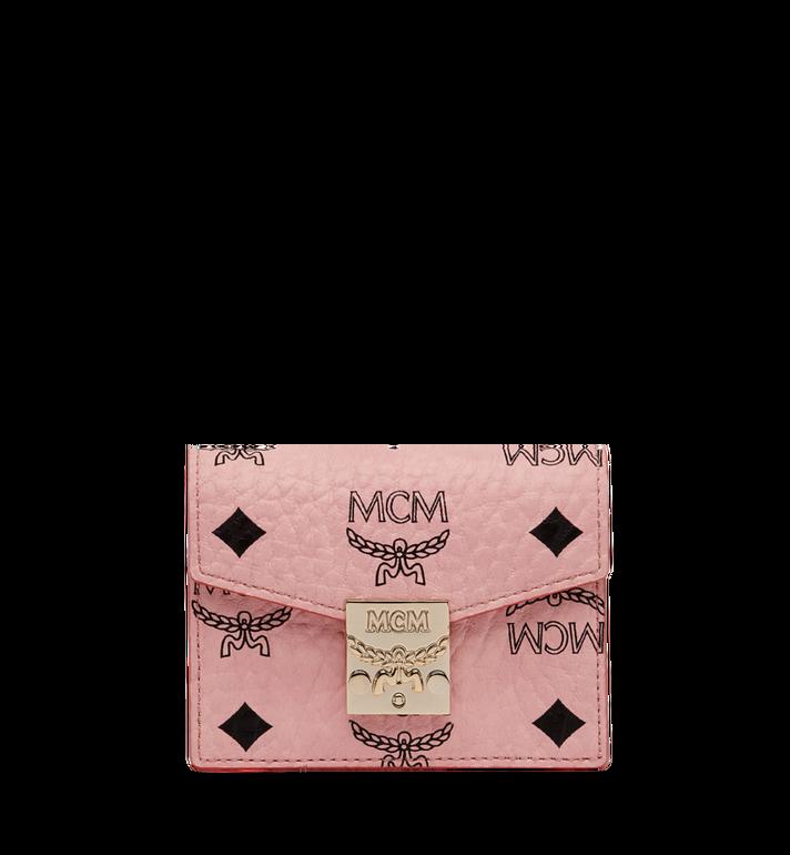 MCM Patricia Accordion Card Case in Visetos Alternate View