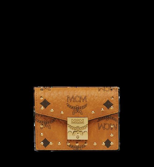 Patricia Accordion Studded Card Case in Visetos