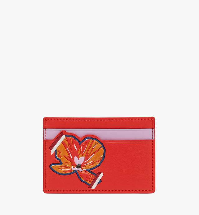 Victory Flower Card Case in Leather