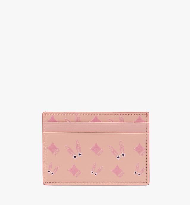 小兔子塔罗牌钻石图案皮革卡包