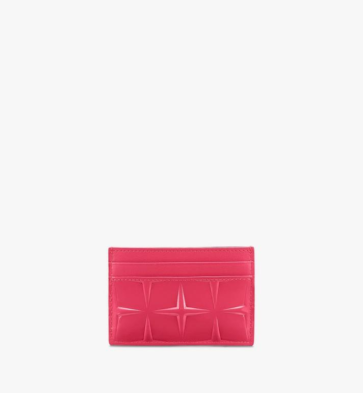 MCM Card Holder in Diamond Patent Leather Pink MYAASDQ01QE001 Alternate View 2