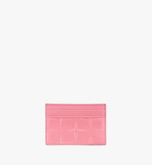 Card Holder in Diamond Patent Leather