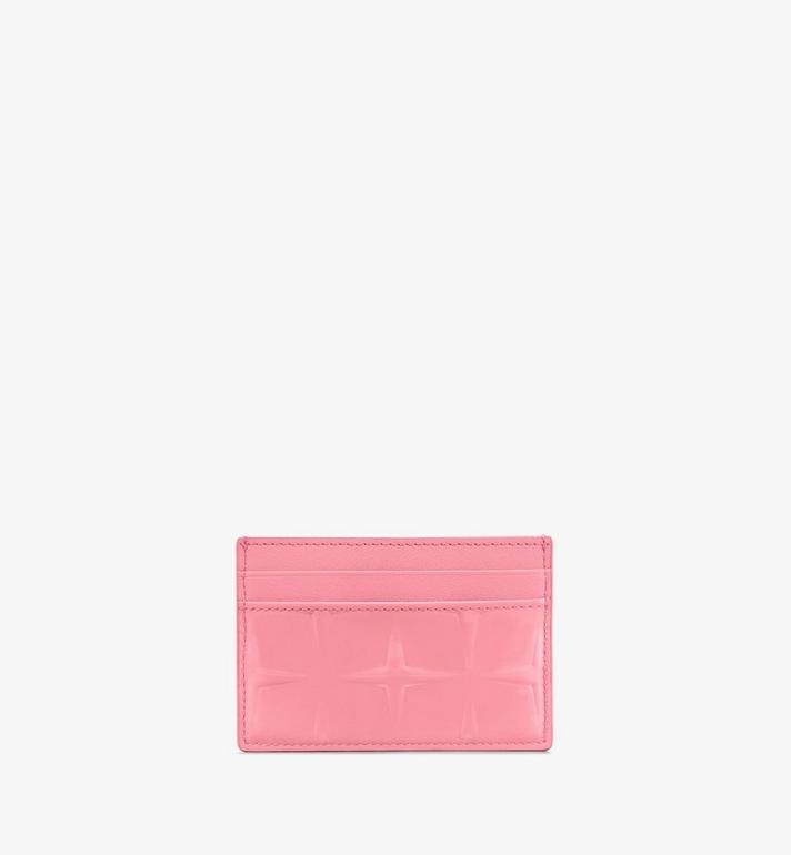 MCM Card Holder in Diamond Patent Leather Pink MYAASDQ01QG001 Alternate View 2