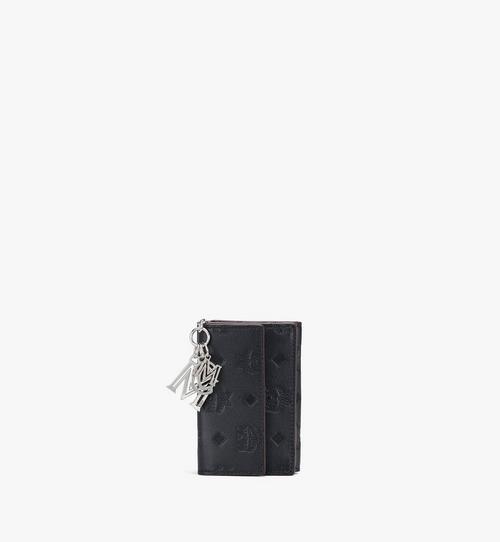 กระเป๋าสตางค์พับสามทบ Klara ขนาดมินิ วัสดุหนังพิมพ์ลายโมโนแกรม