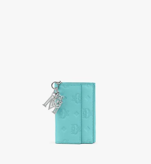 กระเป๋าสตางค์มินิ Klara พับสามทบวัสดุหนังพิมพ์ลายโมโนแกรม