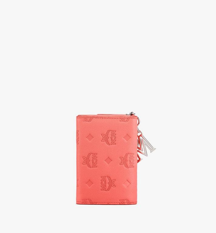 MCM Klara Mini Trifold Wallet in Monogram Leather Orange MYAASKM01O3001 Alternate View 2