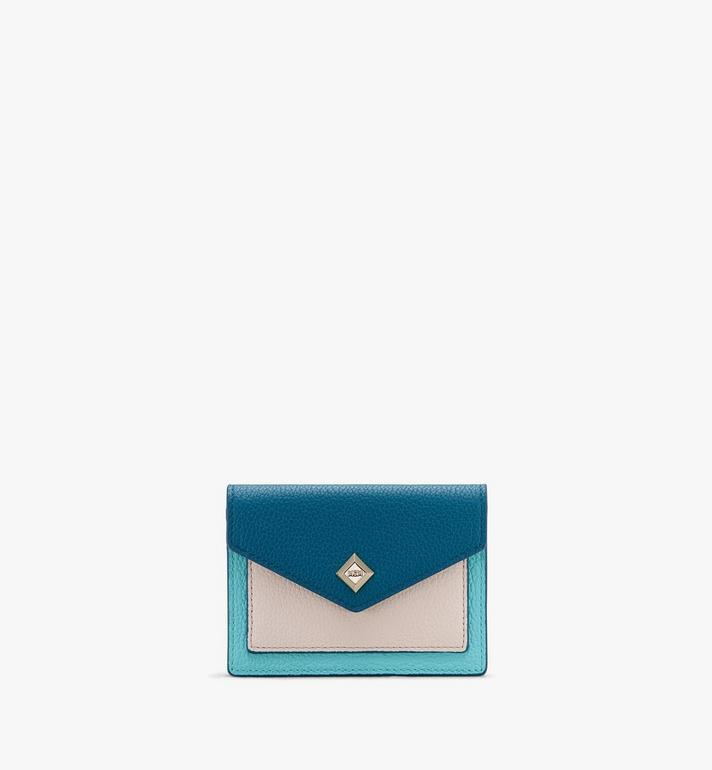 MCM Love Letter Mini Wallet in Park Avenue Leather Blue MYAASLV01JF001 Alternate View 1