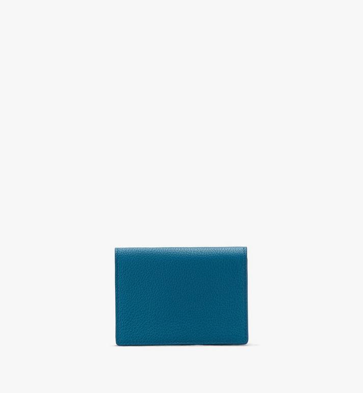 MCM Love Letter Mini Wallet in Park Avenue Leather Blue MYAASLV01JF001 Alternate View 2