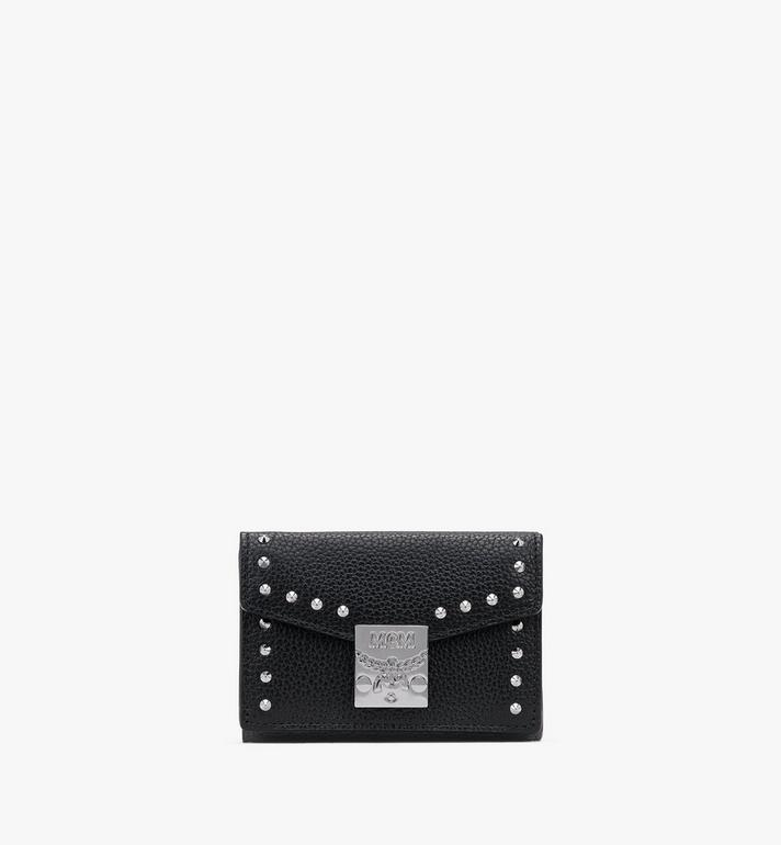 MCM Patricia Mini Trifold Wallet in Studded Park Ave Leather Alternate View