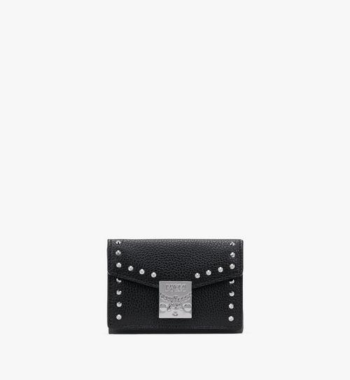 Patricia Mini Trifold Wallet in Studded Park Ave Leather