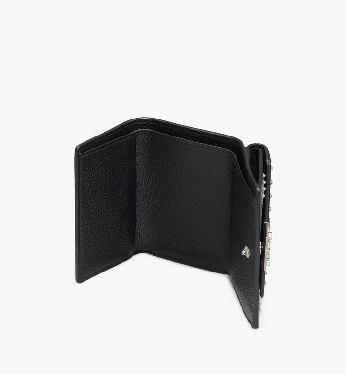MCM Patricia Mini Trifold Wallet in Studded Park Ave Leather Black MYAASPA01BK001 Alternate View 3