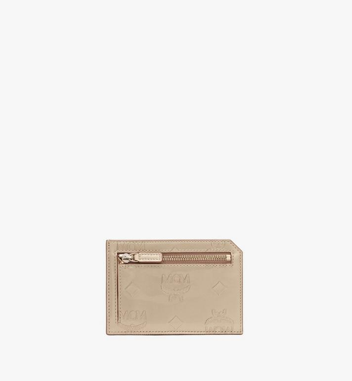 MCM Card Case in Metallic Monogram Leather Alternate View