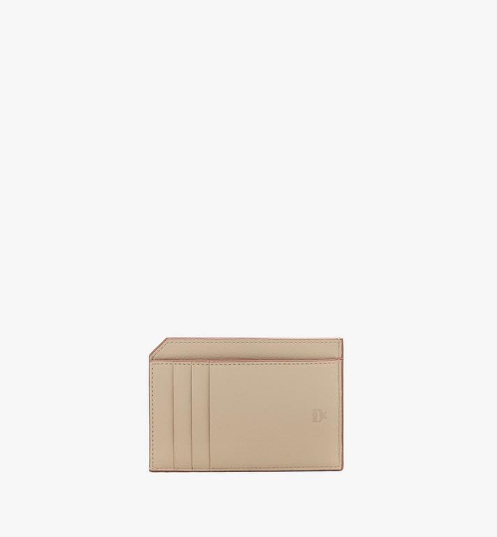 MCM Card Case in Metallic Monogram Leather Gold MYAASPM02T1001 Alternate View 2