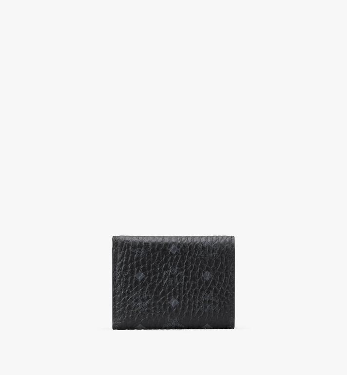MCM Dreifach gefaltete Brieftasche in Visetos Black MYAASVI01BK001 Alternate View 2