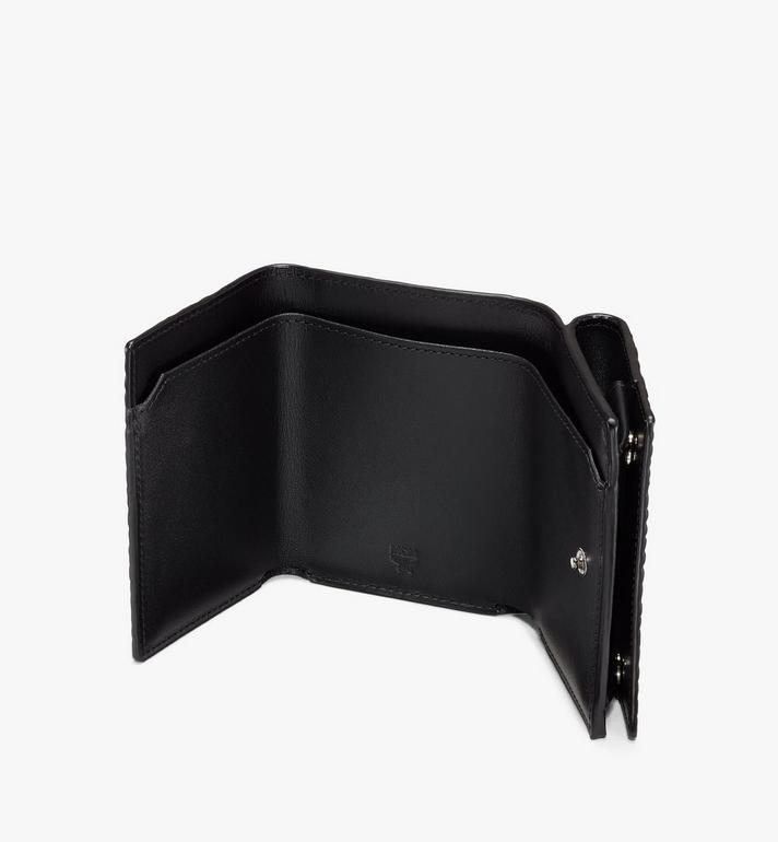 MCM Dreifach gefaltete Brieftasche in Visetos Black MYAASVI01BK001 Alternate View 3