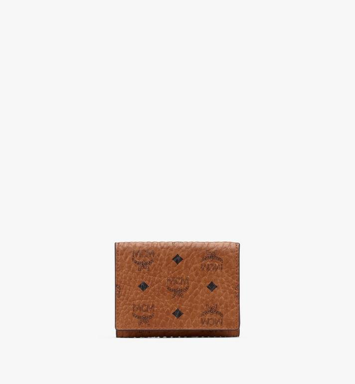 MCM Trifold Wallet in Visetos Cognac MYAASVI01CO001 Alternate View 1