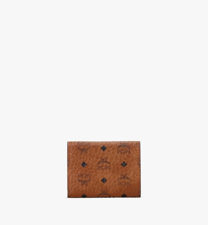 MCM Trifold Wallet in Visetos Cognac MYAASVI01CO001 Alternate View 2
