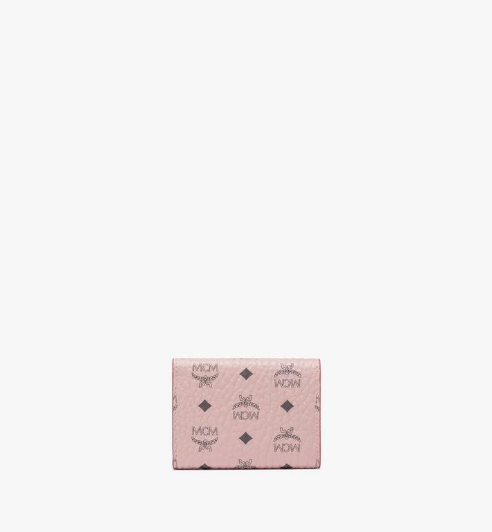 MCM Trifold Wallet in Visetos Pink MYAASVI01QH001 Alternate View 2