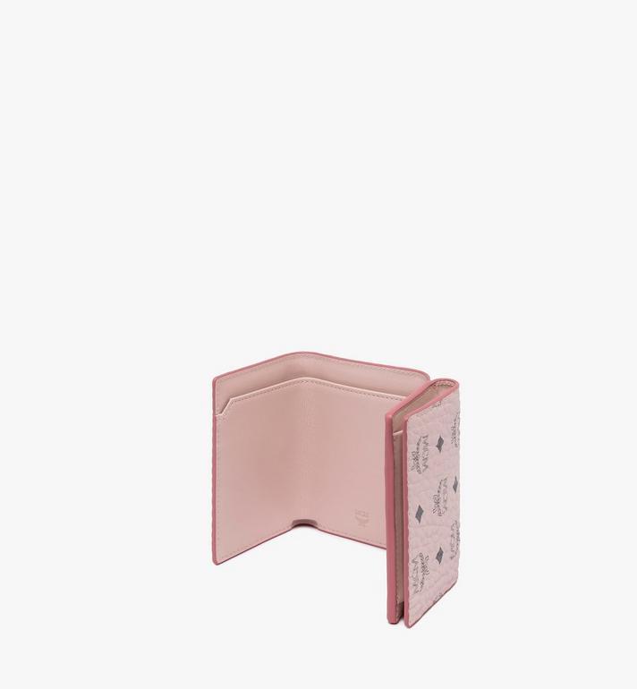 MCM Trifold Wallet in Visetos Pink MYAASVI01QH001 Alternate View 3
