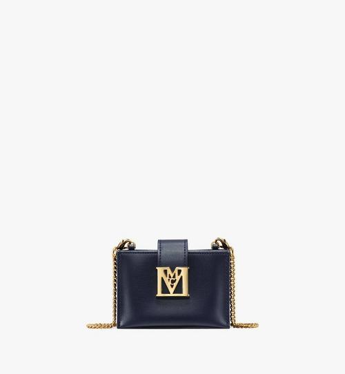 กระเป๋าใส่บัตรทรงแอคคอร์เดียน Mena หนังประทับลายพร้อมสายโซ่