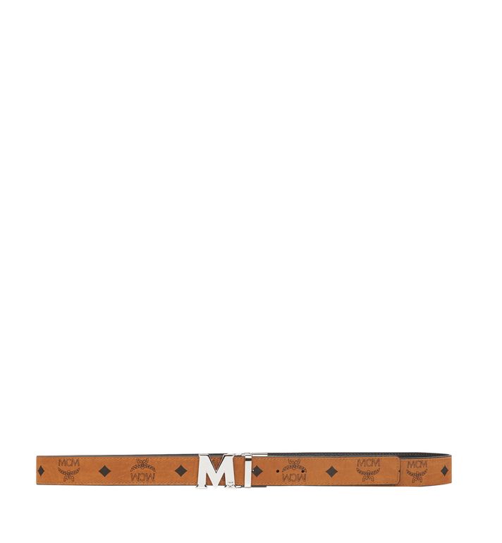 "MCM Color Visetos Reversible Belt 1"" Cognac MYB6AVC10CO001 Alternate View 3"