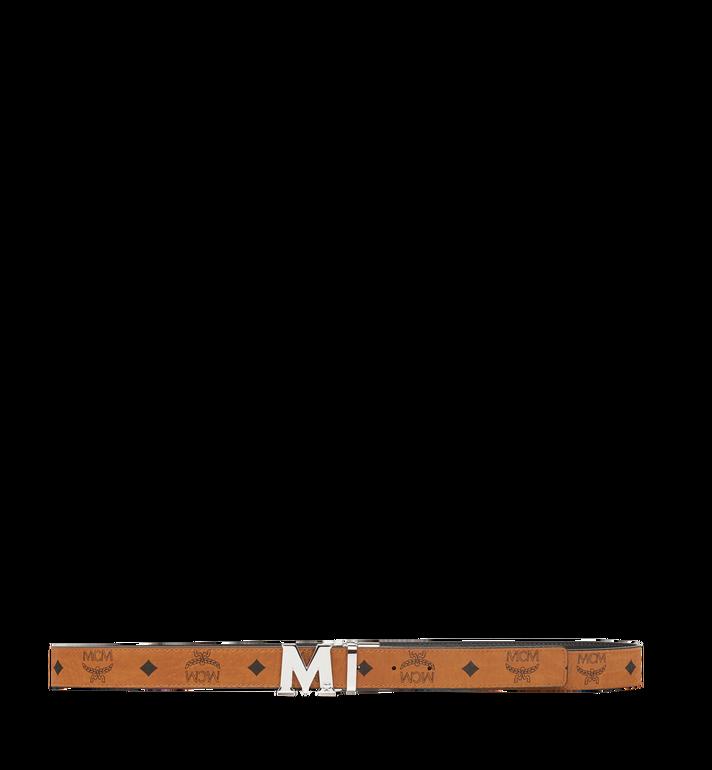 "MCM Color Visetos Reversible Belt 1"" Cognac MYB6AVC10CO001 Alternate View 3"