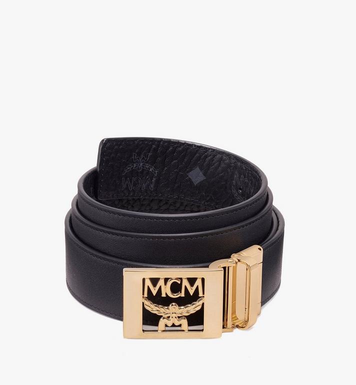 MCM MCM Collection Reversible Belt in Visetos Black MYB9AMM36BK001 Alternate View 2
