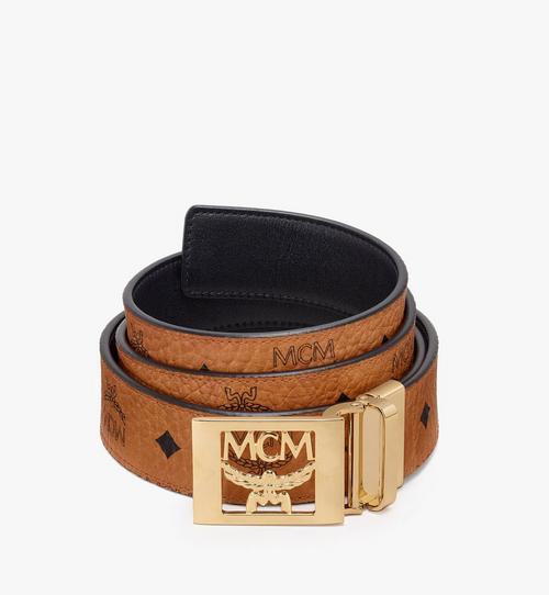 เข็มขัดใส่ได้สองด้าน MCM Collection ลาย Visetos